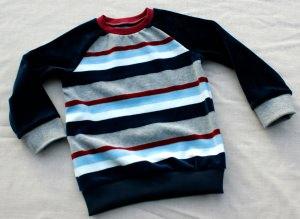 Nicki-Pullover RETRO  für Jungen Gr.86/92 Streifen weich kuschelig
