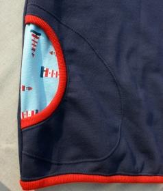 Hoodie LEUCHTTURM Baumwoll-Sweat Gr.40/42 blau Sommer-Sweat maritim lässig bequem Unikat dunkelblau Taschen Longshirt Kapuze
