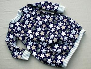 kuscheliges Kinderkleid  PÜNKTCHEN-STERNE   lila Gr. 104 Baumwoll-Sweat Ballonkleid  - Handarbeit kaufen