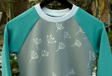 Mädchen - Kleid PUSTEBLUME  mint Ökotex Gr.104