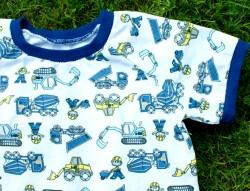 Shirt BAUMEISTER  für Jungen Gr. 80/86 weiß bunt Fahrzeug Baumwolle Jersey