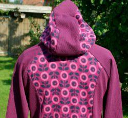 Hoodie DAISIES Baumwoll-Jacquard kbA Gr. L Albstoffe GOTS Hamburger Liebe Knit Knit pink fuchsia