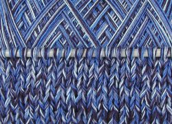 Wolle handgewickelt AZZURRO Naturgarn BW 512 gr