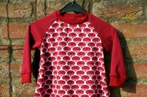 Baby Kleid KLEINE IGEL rot Bio-Baumwolle Gr.80