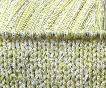 Wolle handgewickelt LIMO-NETTE 435 gr Baumwolle hell limette weiß gelb Sommer Boucle Designergarn