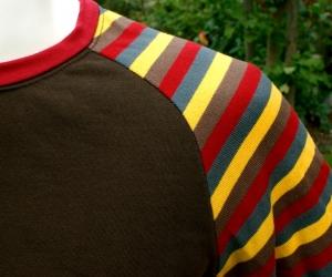 Männer Pullover SO ODER SO ? Baumwolle  Gr. M/L braun Streifen klassisch leger  - Handarbeit kaufen