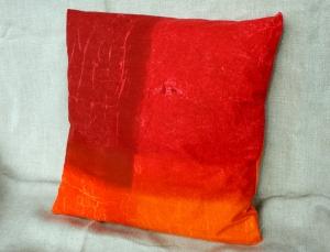 Kissenbezug BATIK-OPTIK rot pink orange 40x40 cm Bassetti-Stoff  Baumwolle