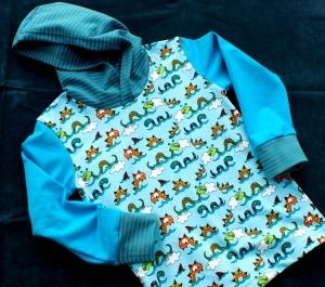 Kapuzenshirt NESSI für Mädchen und Jungs 110/116  - Handarbeit kaufen