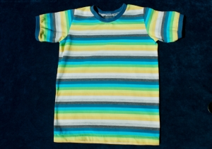 Kinder-Shirt EINHORN-Streifen Bio-Baumwolle GOTS Gr.122/128  - Handarbeit kaufen
