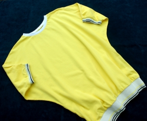 FLEDERMAUSSHIRT gelb Baumwoll-Piqué Gr.M - Handarbeit kaufen
