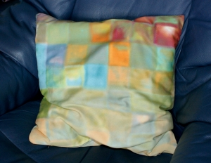 Kissenbezug MOSAIK pastell 40x40 cm Bassetti-Stoff Reißverschluss  Baumwolle Satin  - Handarbeit kaufen