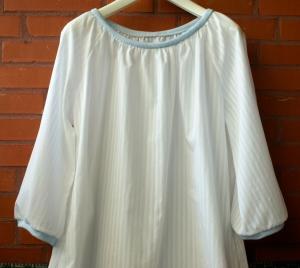 weiße BLUSE leicht luftig Baumwolle M/L - Handarbeit kaufen