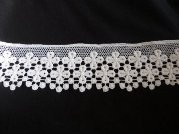 1m-echt Plauener Spitze-weiß+6cm-Vintage-Baumwolle