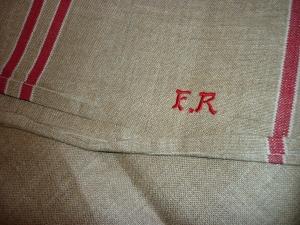 *** Rolltuch-Mangeltuch-rote Streifen-1A Qualität -Selten ***