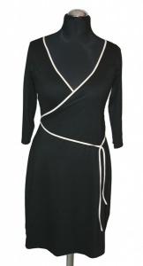 Wickelstylekleid mit Dreiviertelarm von VARIO-SHIRTS - Handarbeit kaufen