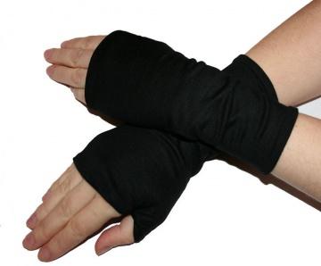 Mira Armstulpen mit Daumenloch, Handschuh fingerfrei aus Viskosejersey