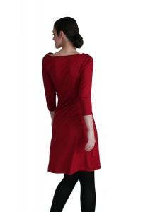 Wasserfalli-Kleid gerade mit 3/4 Ärmeln LG95 aus Viskosejersey - Handarbeit kaufen