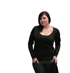 Sexy-C-Basic-Shirt mit langen Ärmeln aus Viskose