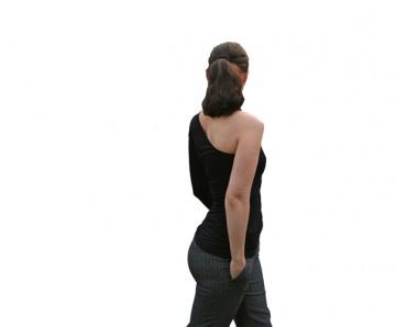 One Shoulder Shirt asymmetrisch No.2 mit dreiviertel Arm