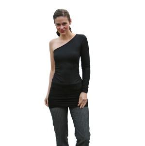 One Shoulder Kleid asymmetrisch No.2 mit langem Ärmel - Handarbeit kaufen