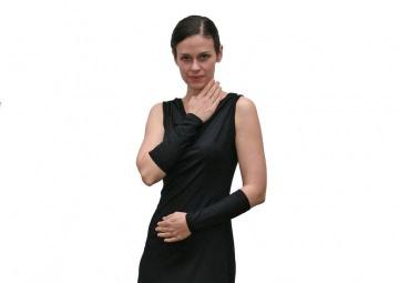 Basic Armstulpen kurz aus Viskosejersey in schwarz