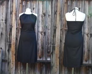 Neckholderkleid der vielen Möglichkeiten mit Tunnelzug Sommerkleid aus Viskosejersey LG95 - Handarbeit kaufen