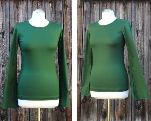Small-C-Basic-Shirt mit Trompeten Ärmeln aus Viskosejersey oder Baumwolljersey - Handarbeit kaufen