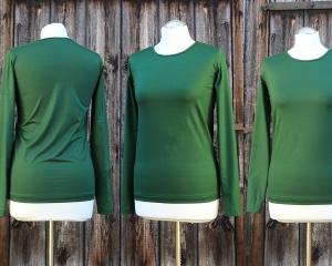 Small-C-Basic-Shirt mit langen Ärmeln aus Viskosejersey oder Baumwolljersey  - Handarbeit kaufen