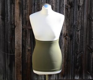 Basic Bauchband / Nierenwärmer schlicht und einfach aus Baumwolljersey olive Made in Germany - Handarbeit kaufen