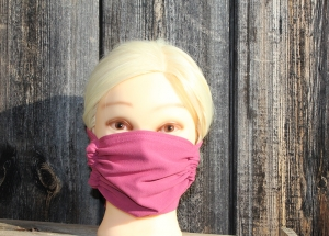 Mund- und Nasenmaske mit Einlagefach für Filter, rosa, individuell anpassbar, waschbar, mehrfach verwendbar