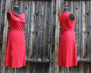 Wasserfall-Kleid gerade ärmellos LG95 aus Viskosejersey   - Handarbeit kaufen