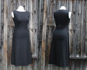 U-Boot-Basic-Kleid gerade ärmellos LG105 aus Viskosejersey     - Handarbeit kaufen