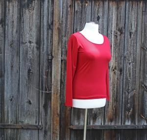 Medi-C-Basic-Shirt mit langen Ärmeln aus Viskosejersey oder Baumwolljersey   - Handarbeit kaufen