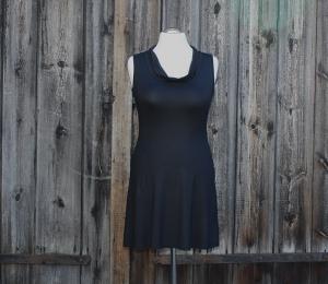Tunika-Top mit geradem Saum und Sexy-C-Rolli-Ausschnitt, Länge 85 cm   - Handarbeit kaufen