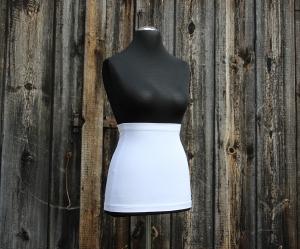 Basic Bauchband / Nierenwärmer schlicht und einfach in weiß aus Viskose - Jersey Made in Germany - Handarbeit kaufen