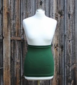 Basic Bauchband / Nierenwärmer schlicht und einfach in dunkelgrün aus Viskose - Jersey Made in Germany  - Handarbeit kaufen
