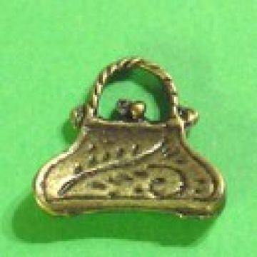 Anhänger Tasche bronzefarben