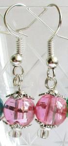 Ohrringe, Summer-Shine, Rosa, metallic 1 Paar (Ohrhaken versilbert)