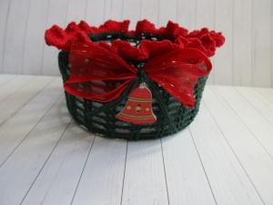 Windlicht, Teelicht, Schale, Weihnacht, Vintage, Shabby-Look, gehäkelt - Handarbeit kaufen