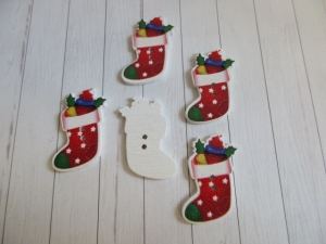 Holzknopf, Motivknopf, Weihnachten, Nikolaus, Winter