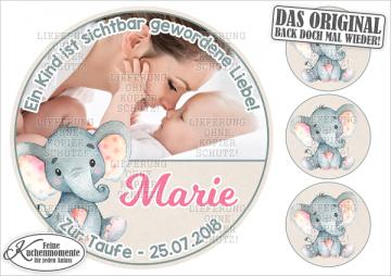 ♥ Tortenaufleger Tortenbilder Geburt Taufe Geburtstag (Dekorpapier PLUS)