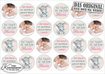 ♥ Muffinaufleger Cupcakes Tortenaufleger Geburt Taufe Geburtstag (Dekorpapier PLUS)