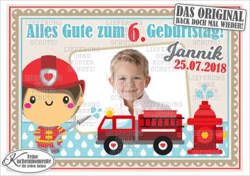 ♥ Tortenaufleger Tortenbilder Feuerwehr Geburtstag (Dekorpapier PLUS)