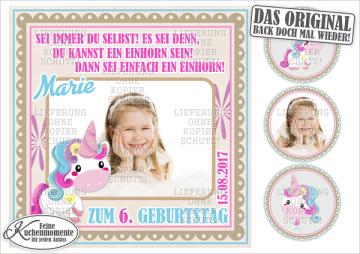 ♥ Tortenaufleger Tortenbilder Einhorn Geburtstag (Dekorpapier PLUS)
