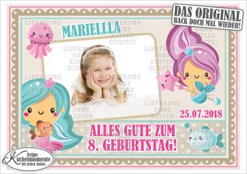 ♥ Tortenaufleger Tortenbilder Nixe Meerjungfrau Geburtstag (Dekorpapier PLUS)