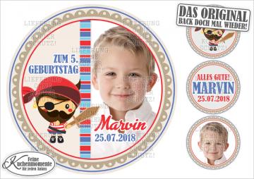 ♥ Tortenaufleger Tortenbilder Piraten Geburtstag (Dekorpapier PLUS)