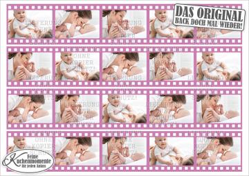 ♥ Tortenaufleger Tortenband Tortenstreifen Filmstreifen mit Fotos (Dekorpapier PLUS)