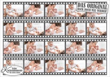 ♥ Tortenaufleger Tortenband Tortenstreifen Filmstreifen mit Fotos (Fondantpapier)