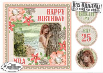 ♥ Tortenaufleger Tortenbilder Geburtstag Blumen (Fondantpapier)