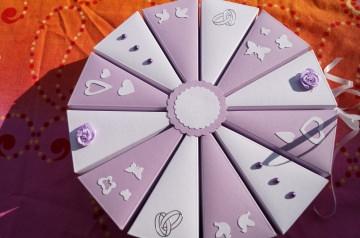 Tolle Torte zur Hochzeit, Geldgeschenkverpackung zur Hochzeit, Tonpapier 300g